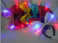Super sequined bow head hoop, party hair animal headdress, holiday party dedicated accessories.