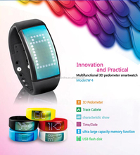 Bluetooth bracelet watch smart band wrist band w4 fitness tracker bracelet