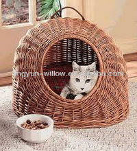 lovely willow pet basket wholesale,bed pet