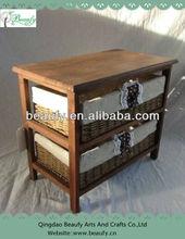 Functional Paper Drawers Wood Shelf Cabinet Furniture