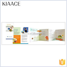 High quality color customized pretty brochure sample
