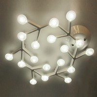 Modern White Hexagon Snowflake 18 DNA Cell 27W PMMA Branch Net Line LED Ceiling Light,M5012-18heads