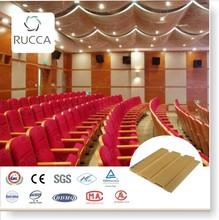 Rucca WPC madera plástica acústica insonorizada Panel de pared para decoración de interiores 204 * 18 mm