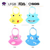 China Manufacturer Cheap Waterproof Silicone Baby Bib / Silicone Baby Bibs with Print