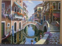 Wholesale cheap italy venice oil paintings canvas