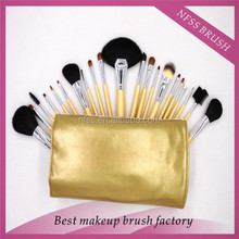 21 Pieces Mineral Natural Hair Makeup Brush Set Kit/Cosmetic Brush