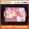 Beautiful Design Printed Cheap Melamine Tray With Handles