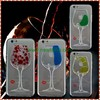 3D Liquid Red Wine Glass Design stand Phone Case for Samsung Galaxy S6