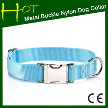Plain Dog Collar Nylon Dog Collar for puppy with Various Colors for Many Breeds made in china