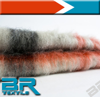 soft and warmth mohair wool fabric for winter cloth