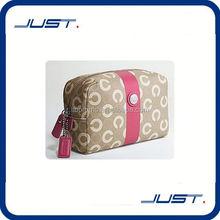 Low MOQ wholesale custom brand name cosmetic bag
