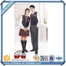 Hot sell factory price school clothes,all grades students school uniform factory