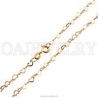 24K gold necklace chain for lady