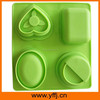 The popular heart oval geometry shapes silicone soap mold