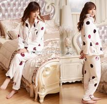 New Women's Warm Flannel Pajama Soft Thick Sleep Wear girl's sleeping wear