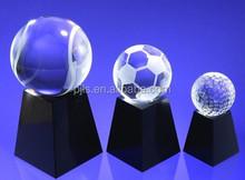 crystal sporting trophy crystal basketball/football/golf award