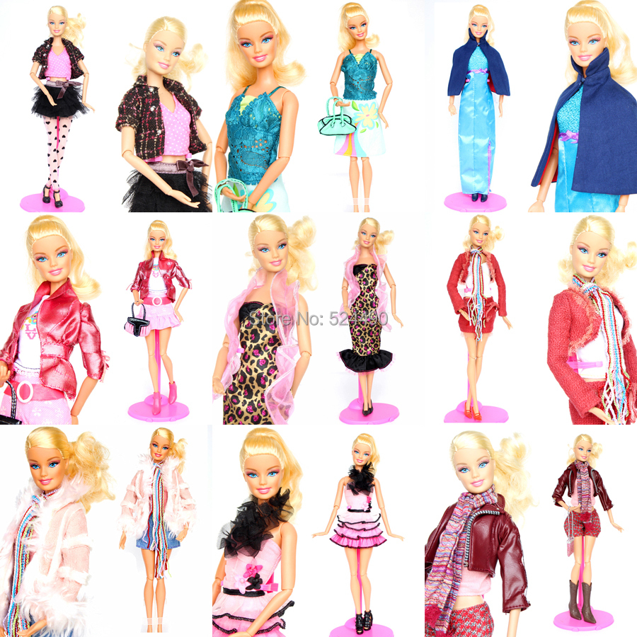 10 Units Outfit Distinctive Design Completely different Fashion Handmade Doll Attire Clothes Go well with Coat Pants Equipment For Kurhn Barbie Doll