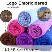 KLM-021 China manufacturer custom design, embroidered logo, microfiber towel wholesale
