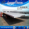 2015 China Low Price Qingdao 20ft Container chassis semi trailer / flatbed semi trailer / lowbed trailer sale in Dubai