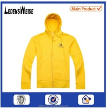 custom 65% cotton 35% polyester screen printed zip-up hoodie