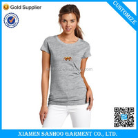 Wholesale 100% Cotton Brand Women T-Shirt Crew Neck Printed Black Women T-Shirt