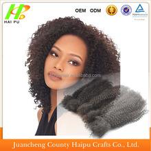 High quality 100 human afro kinky curly 4b/4c brazilian virgin remy bulk hair for braiding