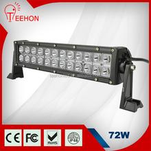 "13.5"" double row waterproof black housing 72w bar lighting led for ATV 4X4 4WD UTV"