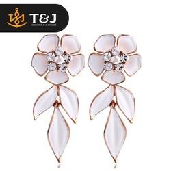 Elegant Leaf flower earrings fashion jewellery
