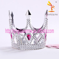 2015 Best Sell Birthday Party Mini Plastic Tiara Crown for Girls