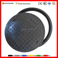 oem manhole cover, polyurethane polymer plastic 600mm composite new construction material water meter manhole cover