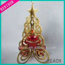 2014 New Design Christmas Tree Candle Holder For Home Ornament Suitable For Christmas Decoration Wholesale Like(BS453-100)