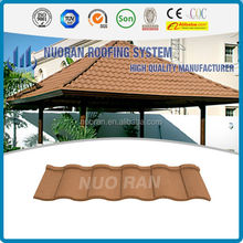 Colorful stone coated metal roof tiles for villa