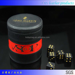 Genuine Leather DICE GAME CUP SHAKER Personalized NEW