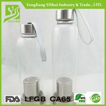 100% Good quality can be customized heat-resistant glass water bottle