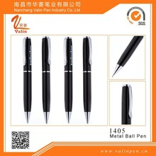 Thick and Large Black ballpoint pen custom brand with gift case