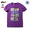 soft O-neck your best choice purple color men's t shirt