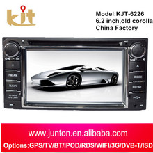 Univesal 6.2 inch hd touch screen car dvd player for cd radio auto and download mp5 video