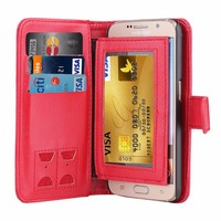 For S6 Leather Case Credit Card Slot,Luxury Design Mobile Phone Leather Case For Samsung Galaxy S6,For S6 Edge Leather Case