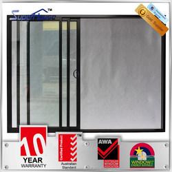 Australia standard double glazed aluminum thermal break three tracks aluminum sliding door