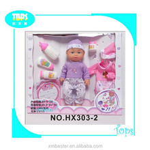 creative design plastic baby doll with bottle set