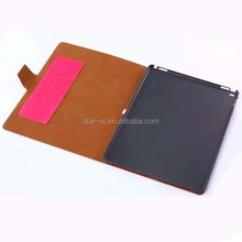 Folio stand leather cover case for ipad pro tablet leather case with card slot