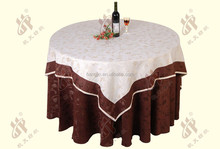 elegant cotton feeling banquet hotel linen jacquard table cloth /washable polyester table covers / fancy jacquard table cloth