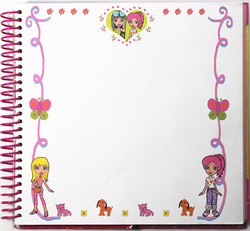 New design sticker book printing book cover sticker