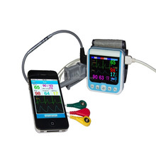 Wireless Bluetooth ecg,heart reat,Respiration, Blood pressure, SpO2 and Pulse rate home use medical monitor