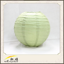 14'' Sage green multicolor chrismas decoration paper lantern for decor