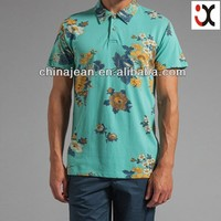 2015 print leisure short sleeve fashion men polo shirts wholesale china JXQ004