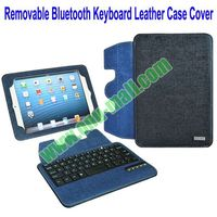 New Arrival removable bluetooth keyboard for ipad mini 2 Leather Case Cover with Stand