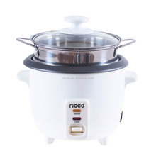 0.6L mini electric drum rice cooker with stainless steel steamer