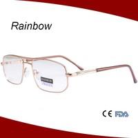 Aviator shape optical frames stainless steel reading glasses