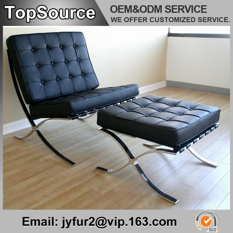 Living Room Furniture Upholstered Cushions Barcelona Chair Replica